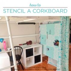 Cutting Edge Stencils shares how to stencil a DIY pegboard using the Stephanie's Lace Allover Stencil. http://www.cuttingedgestencils.com/lace-stencil-wall-decor-stencils.html