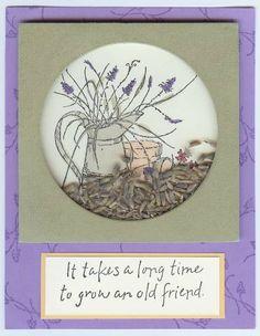 Lavender Shaker Card