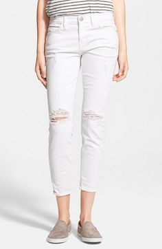 Current/Elliott 'The Stiletto' Jeans (Salty Destroy) available at #Nordstrom
