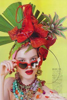 "Fun and Fruity"": Gwen Loos in Carmen Miranda Tropical Accessories ..."