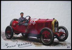 Enzo Ferrari alla guida dell'Alfa Romeo 40/60 HP Corsa 1913
