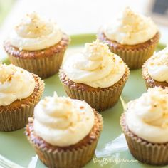 These Sugar-Free Italian Cream Cupcakes are very reminiscent of the one that so many of us have enjoyed for years. KETO, Low Carb, THM S Sugar Free Cupcakes, Low Carb Cupcakes, Sugar Free Sweets, Low Carb Sweets, Sugar Free Recipes, Yummy Cupcakes, Low Carb Desserts, Yummy Snacks, Delicious Desserts