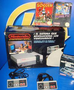 Consola nintendo NES version española NESE-001 + mando y dos juegos