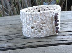 crochet cuff by EvelynMaeCrochet on Etsy - $12