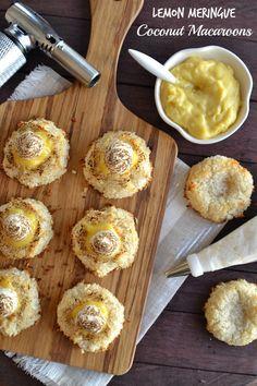 Lemon Meringue Coconut Macaroons plus 49 other Paleo dessert recipes Passover Desserts, Passover Recipes, Jewish Recipes, Paleo Recipes, Passover Traditions, Passover Meal, Banting Recipes, Paleo Ideas, Free Recipes