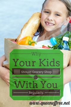Some of the most valuable lessons about money come at the grocery store. Read how grocery shopping with kids can increase their financial IQ.