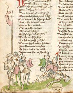 Thomasin : Der welsche Gast Schwaben, 3. Viertel 15. Jh. Cgm 571  Folio 70