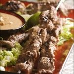 Grilled Thai Beef Satay with Sweet and Spicy Peanut Sauce