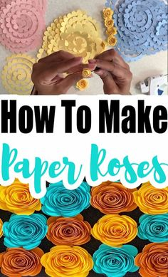 If you are wanting to learn how to make paper roses, then you are in the right place. With just a few supplies you can make beautiful paper roses. bottle crafts videos How To Make Paper Roses Plus Free Template Rolled Paper Flowers, Paper Flowers Diy, Tissue Flowers, Paper Flowers How To Make, Paper Flower Tutorial, Bow Tutorial, Fabric Flowers, Mason Jar Crafts, Mason Jar Diy