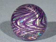 Hand Made Art Glass James Alloway Dichroic Marble