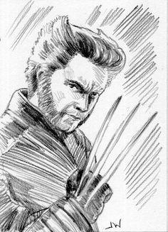 Wolverine X-Men ACEO Sketch Card by Jeff Ward #wolverine #x-men #sketchcard #aceo