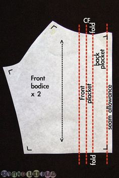How to Add a Button Placket to any Top Sewing Pattern