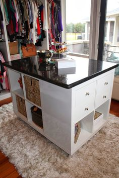 closet ikea hack island marble top how to easy diy project