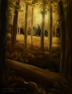 The Boundary Forest by ~Saracia on deviantART - beautiful painting that could have such a story behind it
