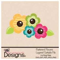 Patterned Flowers SVG Cutting File