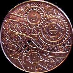 2011 Globes & Gears 1 oz 999 Copper Coins Steampunk NEW