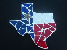Mosaic Texas red white and blue by CountryGooseBoutique on Etsy, $30.00