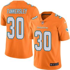 Youth Nike Miami Dolphins #30 Cordrea Tankersley Limited Orange Rush NFL Jersey