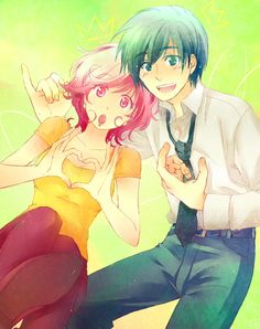 Cosmo and Wanda as anime from The Fairly Odd Parents