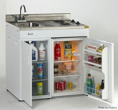 This has to be the best kitchen appliance for any small kitchen. #small #fridge #kitchens