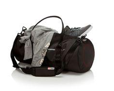 luftstoff carrierbag tube big mit Barcode | Schwarz | 100% Original Airbag Material  Netzfutter  wasserabweisend  handwaschbar  2 Reißverschluss-Innentaschen