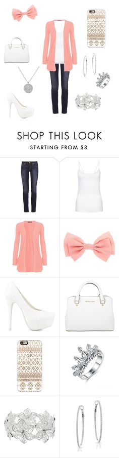 """""""cute"""" by a-hidden-secret ❤ liked on Polyvore featuring Tory Burch, New Look, WearAll, Nly Shoes, Michael Kors, Casetify and M&Co"""