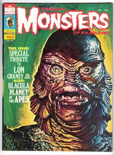 RARE Vintage 1973 Famous Monsters of Filmland 103 Blacula Lon Chaney Etc | eBay