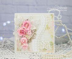 Pastelowa i delikatna kartka urodzinowa powstała z papierów New Baby Born Craft&You Design. Jak widać ta kolekcja nadaje się świetnie nie ty...