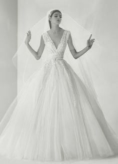 Featured Dress: Elie Saab; Wedding dress idea.