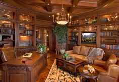 Mediterranean Home Office Photos Ceilings Design Ideas, Pictures, Remodel, and Decor – page 14 – office life