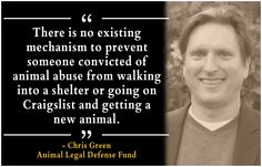 Should animal abusers be registered? Yes! Read about Animal Legal Defense Fund's efforts to establish a national animal abuse registry—front page news in the San Francisco Chronicle!  http://www.sfgate.com/news/article/Should-animal-abusers-be-registered-4945061.php