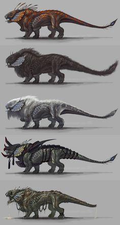 Arakesh by VentralHound on DeviantArt Monster Concept Art, Alien Concept Art, Creature Concept Art, Fantasy Monster, Monster Art, Creature Design, Mythical Creatures Art, Alien Creatures, Mythological Creatures