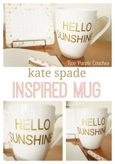Kate Spade Inspired Mug: a DIY Knock-Off Project via www.twopurplecouches.com.
