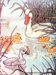 1981 UGLY DUCKLING Michael Hague Print For Hans Christian ANDERSEN's Fairy Tales Ideal For Framing by sandshoevintageprint on Etsy