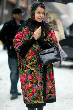Mira wearing #alaruse in NYC.  #MiraDuma #NYFWfall2014