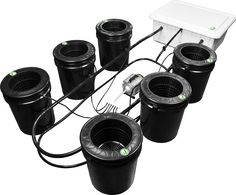 Supercloset Bubble Bucket    The Bubble Bucket Hydroponic System from Supercloset combines the advantages and technology of bubble buckets with ebb and flow bucket system to create a fully automated, recirculating hydroponics system.