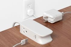 Portiko is a extension cord with two outlets and two USB ports that expands the functionality of your wall outlets and puts power within reach. Tech Updates, Extension Cord, Wall Outlets, Gaming Setup, Power Strip, Things To Buy, Usb, Decor, Gadgets