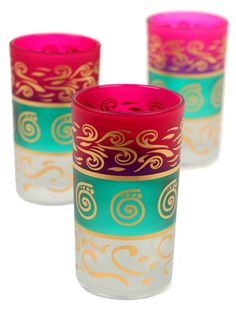 Features:  -Handmade .  -Glass construction.  -Moroccan collection.  -Hand painted.  Product Type: -Water/Juice glass/Drinkware set.  Capacity: -8 Ounces.  Color: -Multi.  Number of Items Included: -6