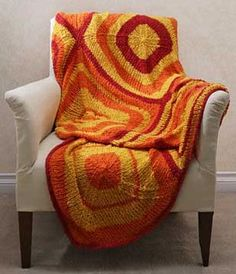 Retro Throw Knitting Pattern #kleurinspiratie