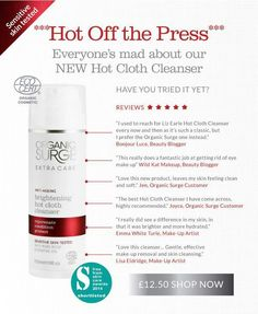New Hot Cloth Cleanser...