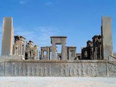 The ruins of persepolis in Iran