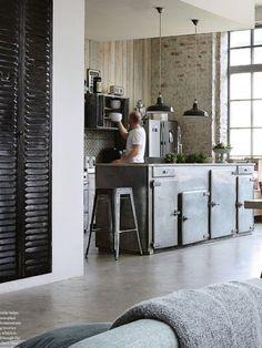 Woonblog my industrial interior: Bijzondere & industriële keuken
