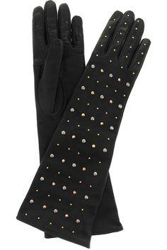 Miu Miu|Studded leather gloves