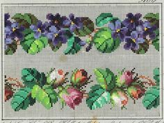 Beaded Embroidery, Cross Stitch Embroidery, Hand Embroidery, Cross Stitch Patterns, Little Designs, Ribbon Work, Beading Projects, Cross Stitch Flowers, Loom Beading