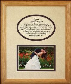 810 LOVE WITHOUT END Picture  Poetry Photo Gift Frame ~ Cream/Navy Blue Mat ~ Wonderful Gift for a Wedding or Anniversary!: Wedding gift