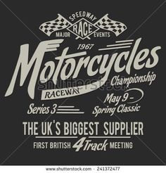 British vintage  motorcycle typography, t-shirt graphics, vectors