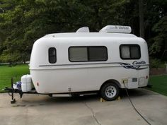 Casita trailer - same shape as the Airstream at a 1/5 of the cost.
