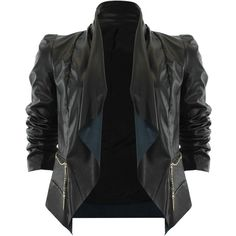 Veste bi-matière (145 CAD) ❤ liked on Polyvore featuring outerwear, jackets, tops, coats and casacos