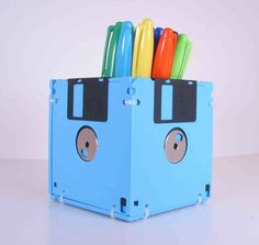 Pencil Holder, another idea for ALL those disks I have lying around.