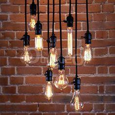 E27 ES Vintage Antique Edison Style Incandescent Light Cord Grip Lamp Holder